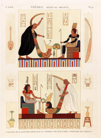 Description de l'Egypte - Carte postale