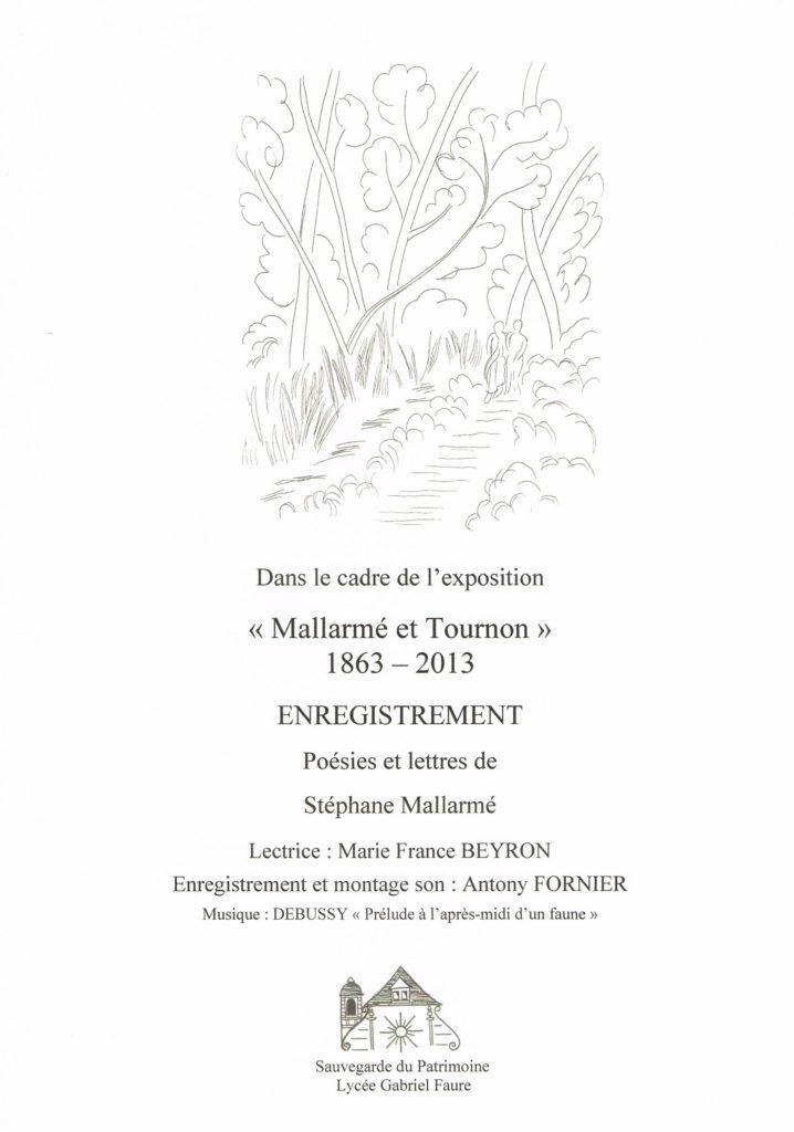 Enregistrement de poésies et lettres de Stéphane Mallarmé