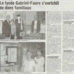 Donations des familles Chirouze et Moussel