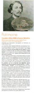 Article sur l'exposition Mallarmé et Tournon - 1863-2013