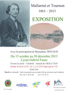Affiche de l'exposition Mallarmé et Tournon - 1863-2013