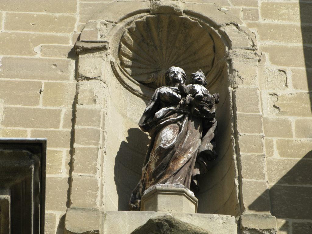 Vierge à l'enfant, Détail de la chapelle du lycée Gabriel Faure