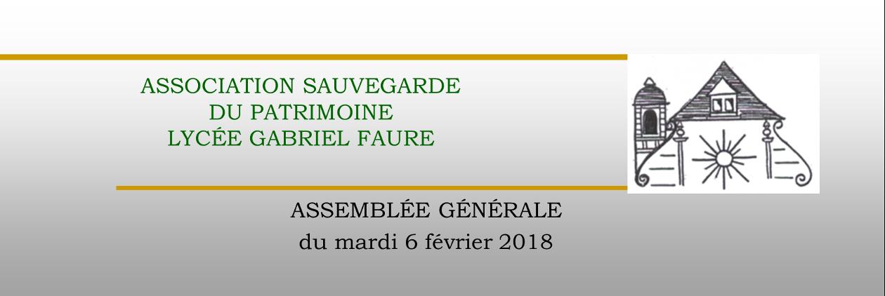 Assemblé générale 2018