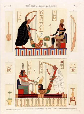 Description de l'Egypte - Carte postale