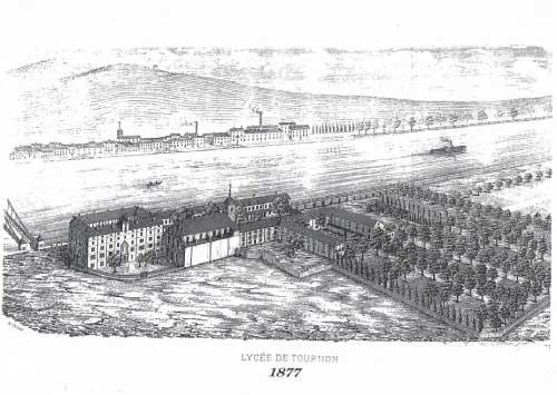 Plan du lycée en 1877
