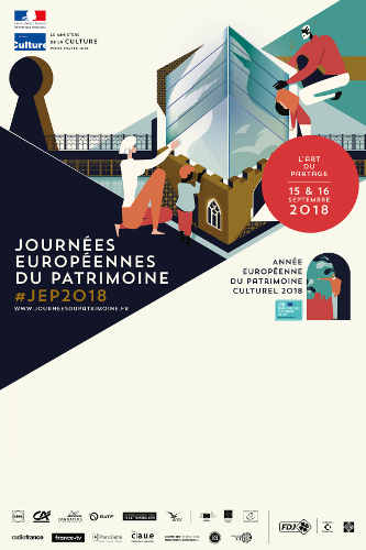 Affiche des Journées Européennes du Patrimoine 2018